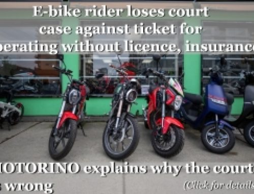 E-bike rider loses court case against ticket for operating without licence, insurance